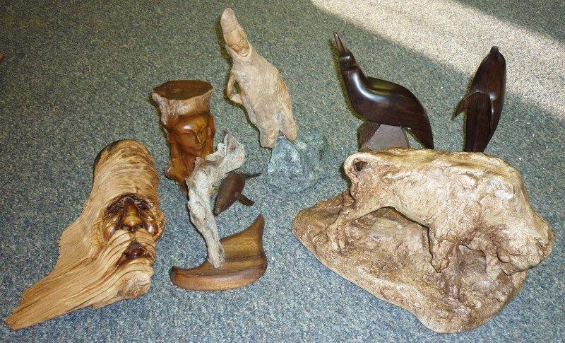 13: Wood Animal Figurines (Signed)