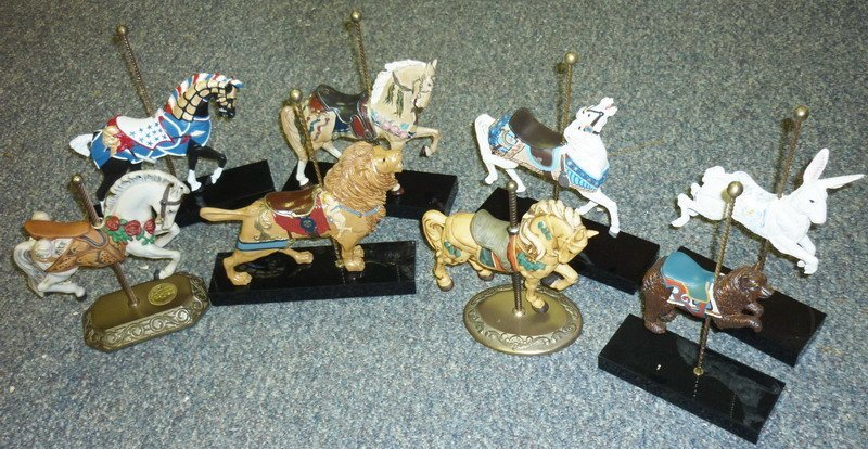 16: Carousel Horse Figurines Hamilton Collection