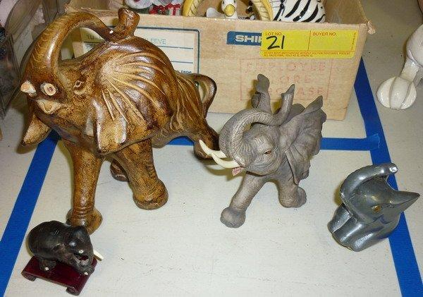 22: Elephant Figurines