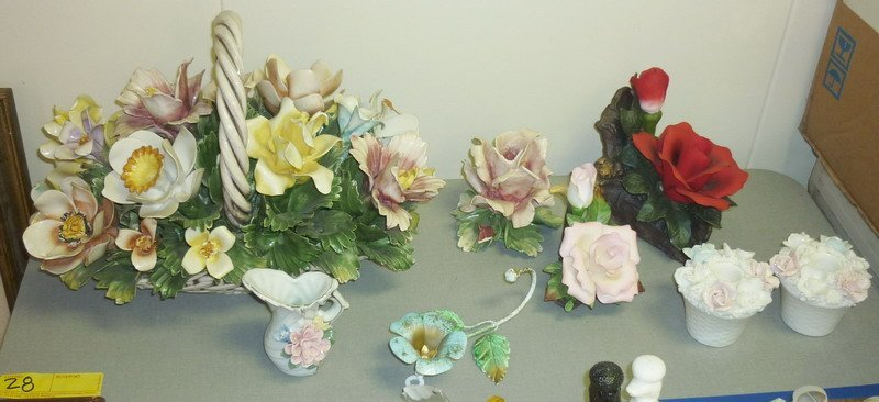 28: Floral Figurine Collection