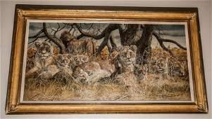 201: Gary Robert Swanson (1941 - 2010) Original Oil Pai