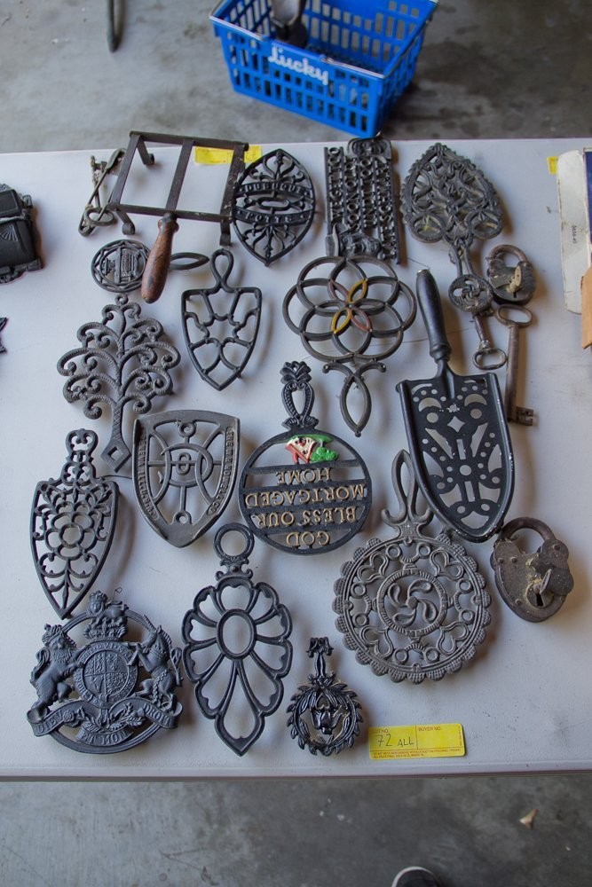 Trivets, Iron Holders, Antique Locks and Keys