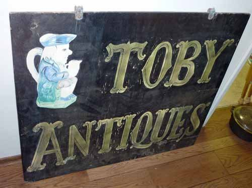 Antique Double Sided Wood Sign