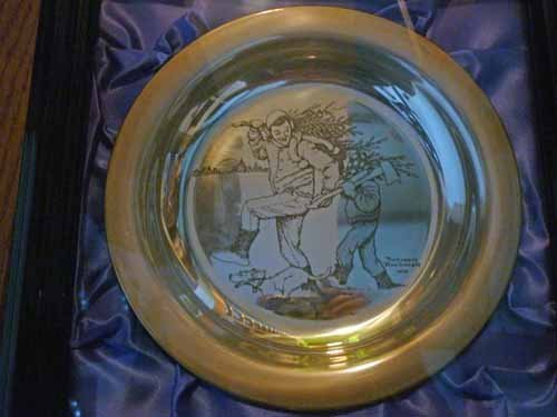 (6) Norman Rockwell Sterling Silver Christmas Plates - 2