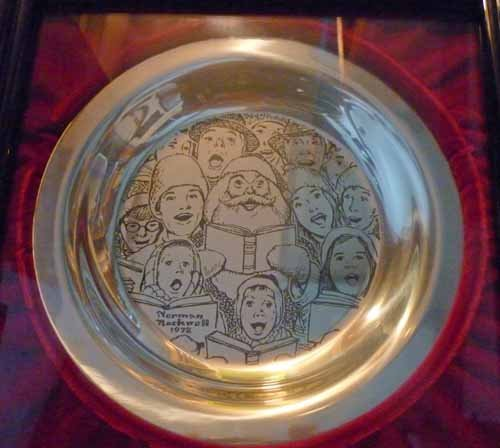 (6) Norman Rockwell Sterling Silver Christmas Plates - 4