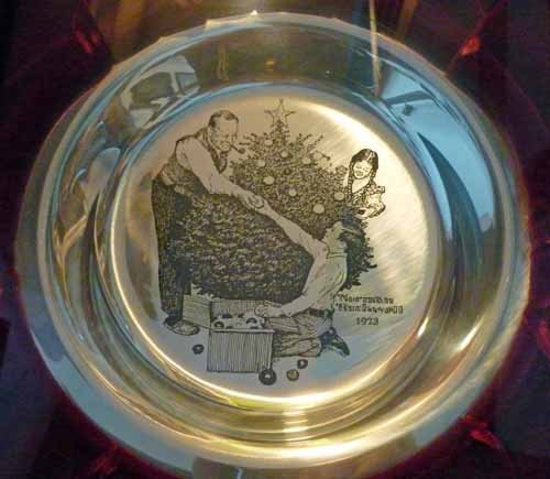 (6) Norman Rockwell Sterling Silver Christmas Plates - 5