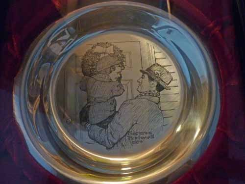 (6) Norman Rockwell Sterling Silver Christmas Plates - 6