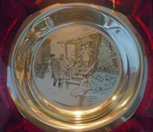 (6) Norman Rockwell Sterling Silver Christmas Plates - 7