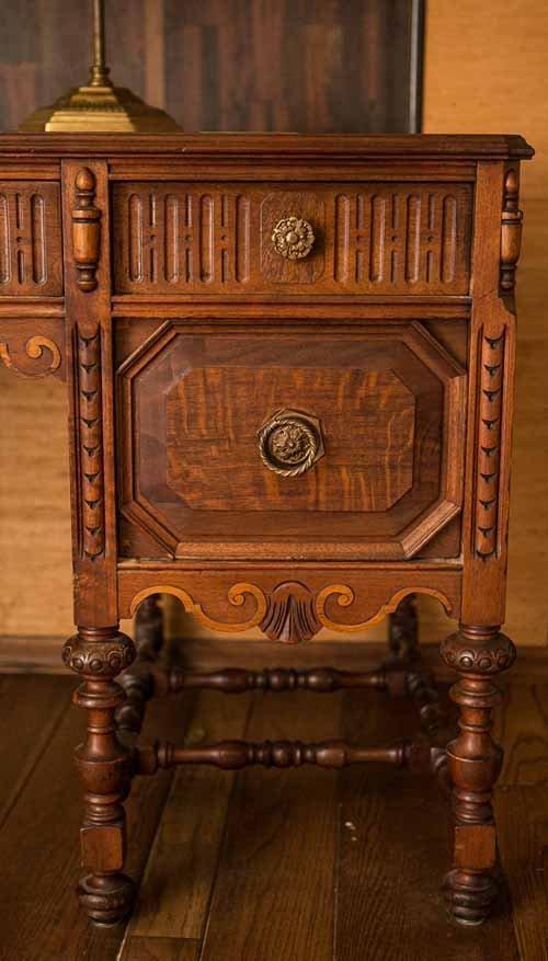 Revell Antique Walnut Desk - 2