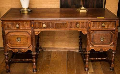 Revell Antique Walnut Desk - 4