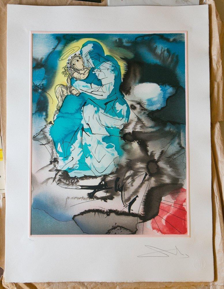 Salvador Dali Madonna and Child Lithographs