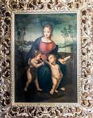 18th Century Oil Painting of The Madonna and the Gold