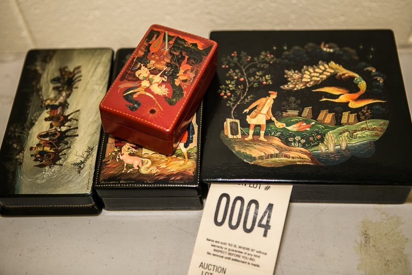 Russian Lacquered Boxes