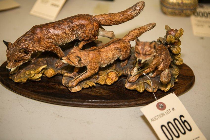 Anri Ferrandiz Fox Wood Figurine