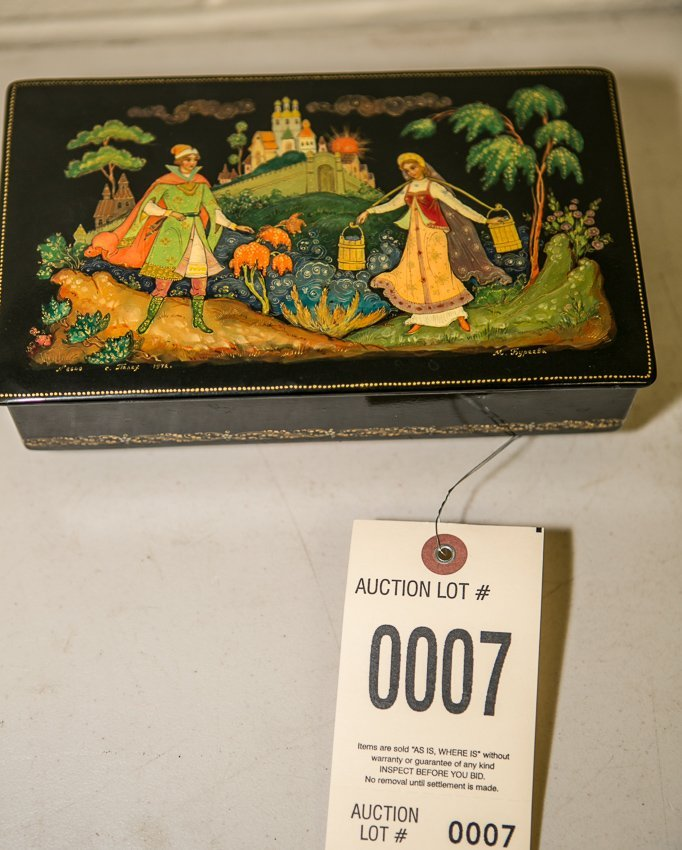 Reuge Russian Lacquered Swiss Musical Box