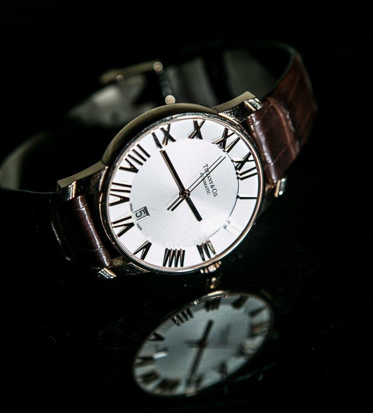 Tiffany, Automatic, Atlas T0058, Gold Wrist Watch.