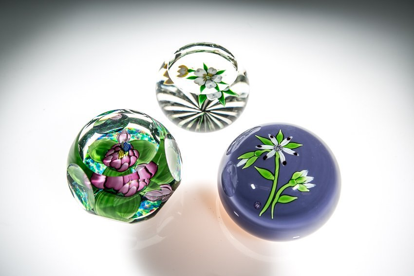 (3) Perthshire Paperweights