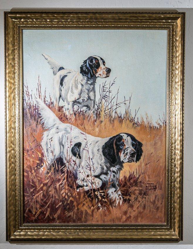 Lynn Bogue Hunt 1878-1960, English Setters Oil Painting