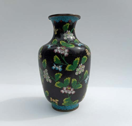 19th Century Chinese Bronze Cloisonné Vase