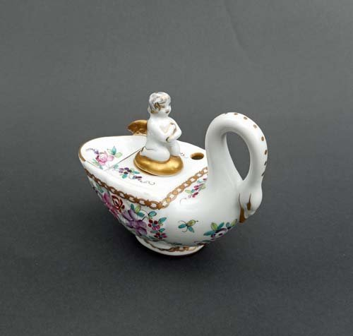 19th Century French Porcelain Inkwell