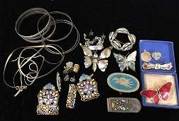 Sterling Silver Native American Indian and Enamel