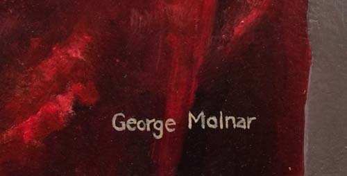 George Molnar Incredible Native American Oil Painting - 2
