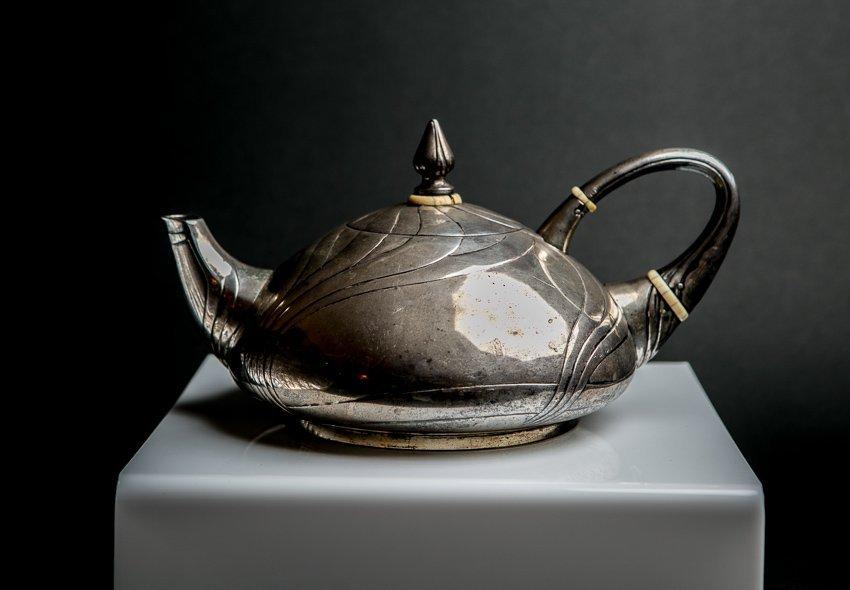 LAZARUS POSEN Art Nouveau Sterling Silver Teapot