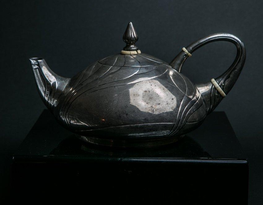 LAZARUS POSEN Art Nouveau Sterling Silver Teapot - 3