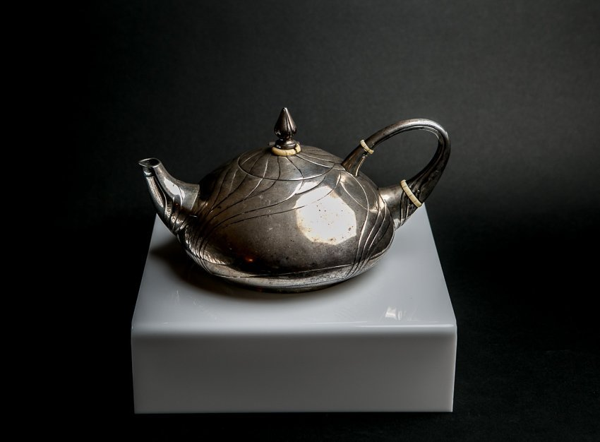 LAZARUS POSEN Art Nouveau Sterling Silver Teapot - 5