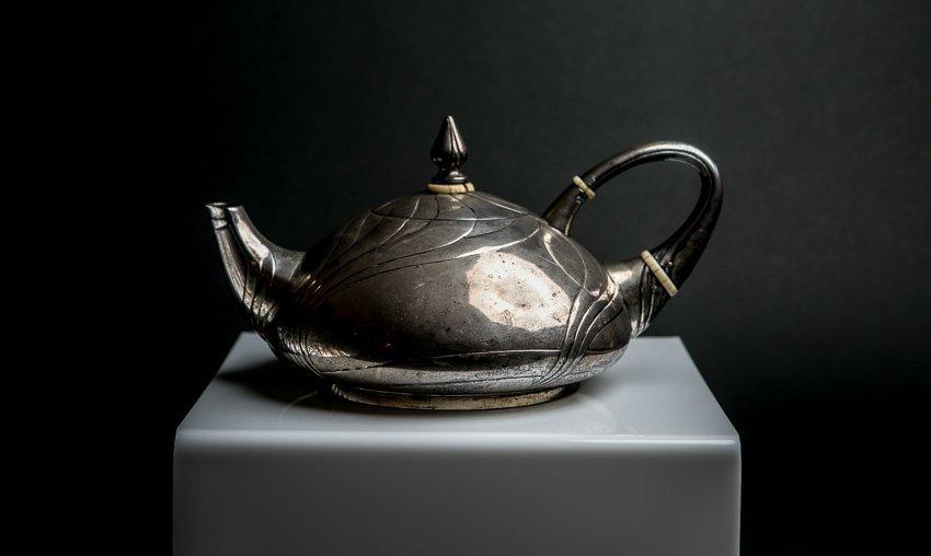LAZARUS POSEN Art Nouveau Sterling Silver Teapot - 6