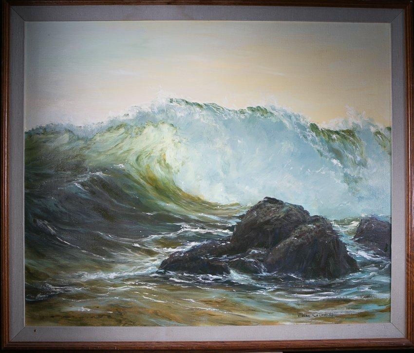 Vivian Caldwell Seascape Oil Painting