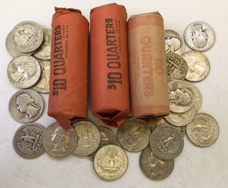 (144) Silver Quarters