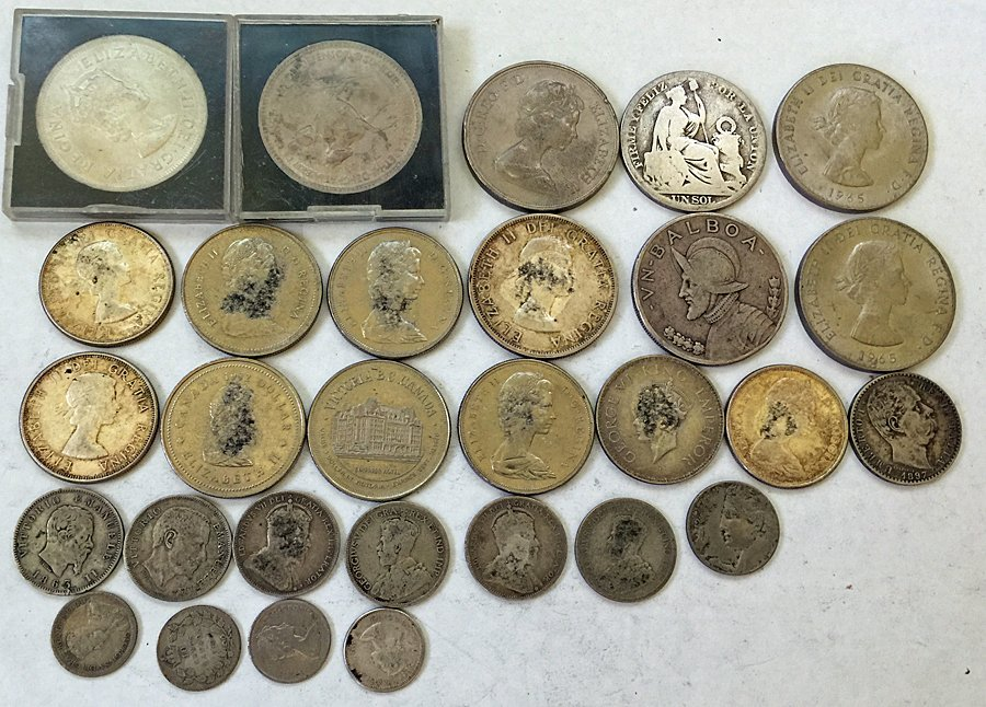 Collection of (29) Silver Coins from Around the World
