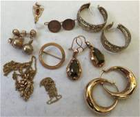 Collection of Antique and Vintage 10K Gold Jewelry