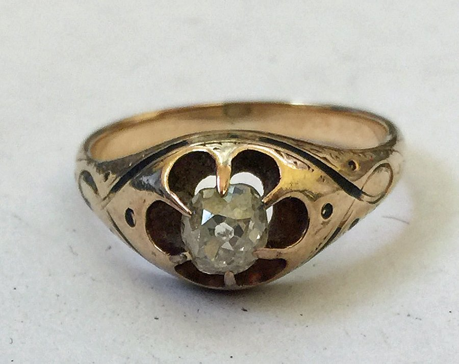 Rosette Cut Diamond Ring