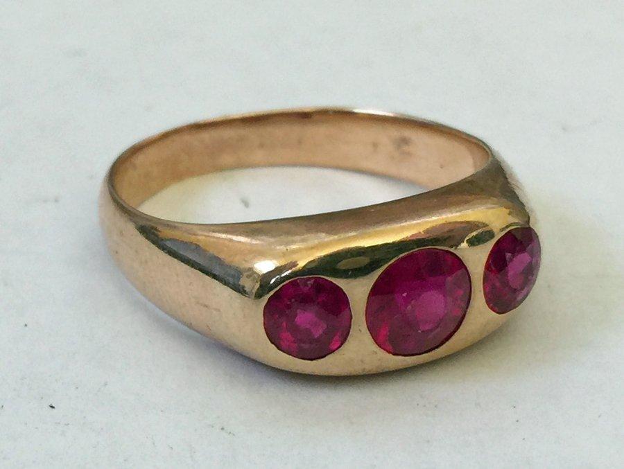 Men's Garnet Ring