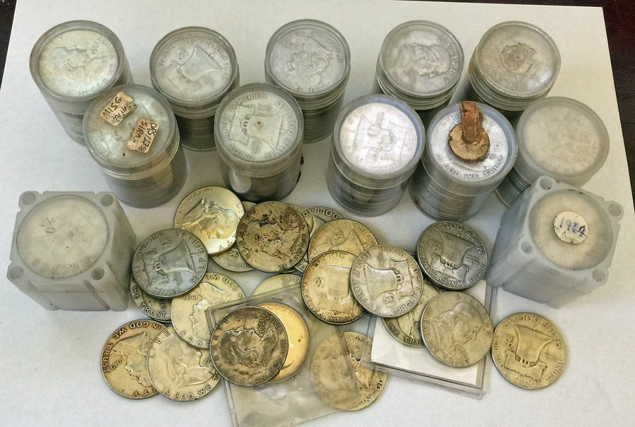 (264) Franklin Half Dollar Silver Coins, Circulated