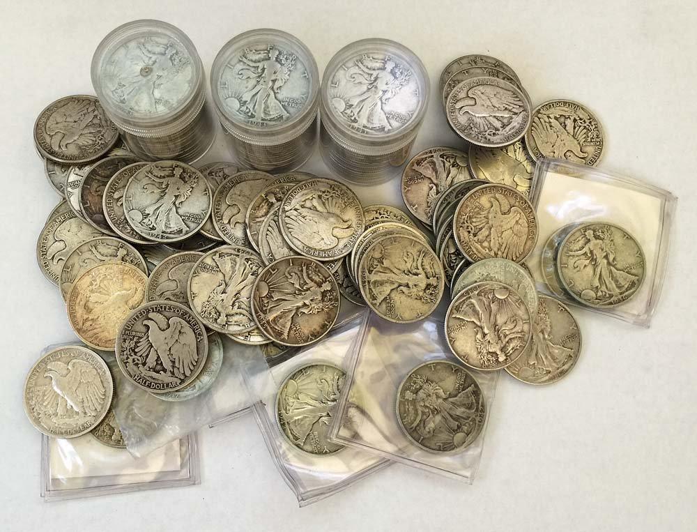 (134) Walking Liberty Half Dollars