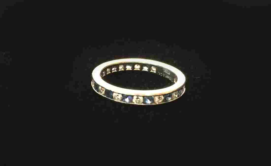 Tiffany Diamond and Sapphire Ring