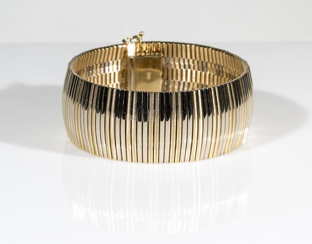Gold Mesh Bangle Bracelet