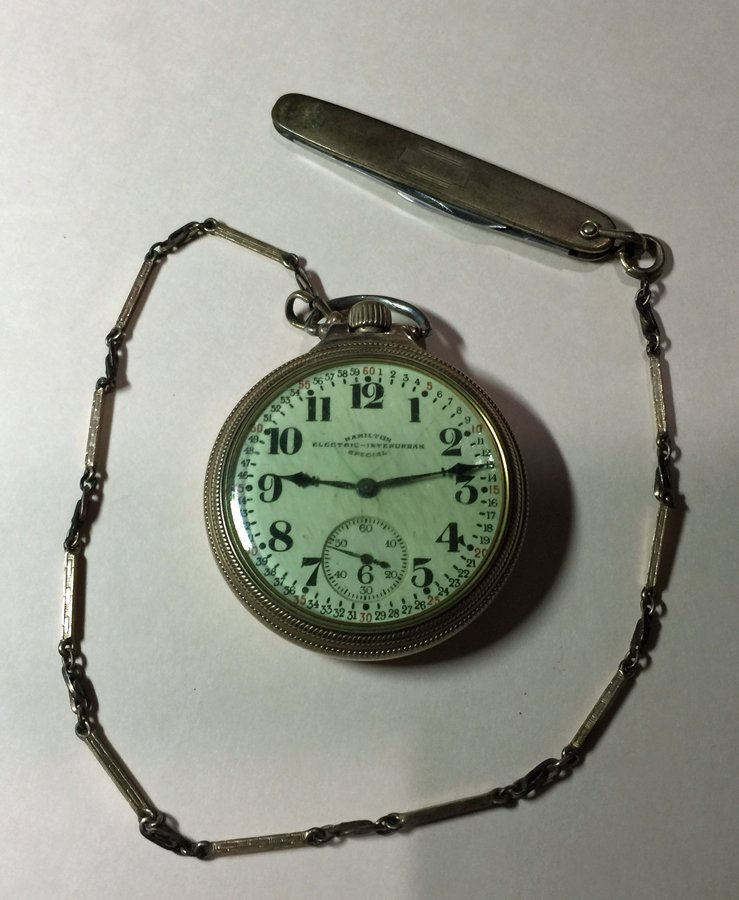 Hamilton Electric-Interurban Special Pocket watch Fob