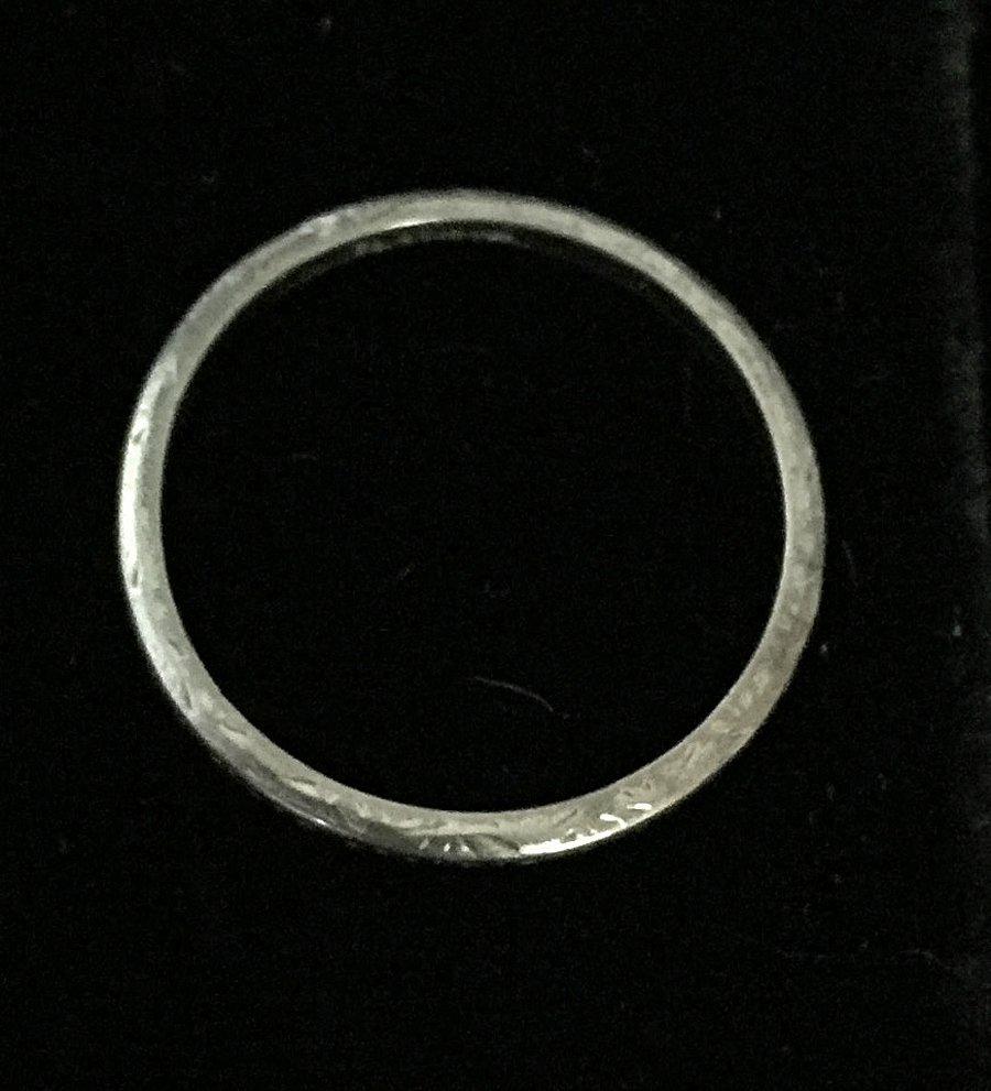 Platinum Band Ring - 2