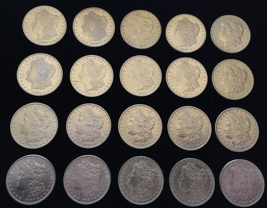 (20) Morgan Silver Dollars