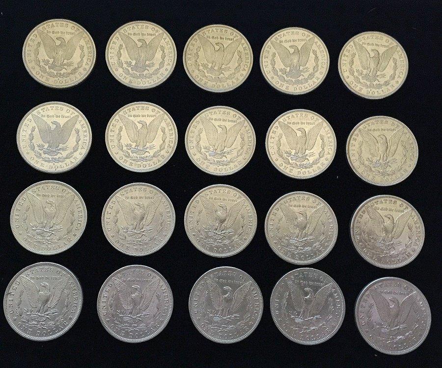(20) Morgan Silver Dollars - 2