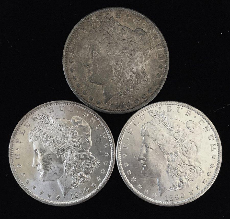 (3) Morgan Silver Dollars