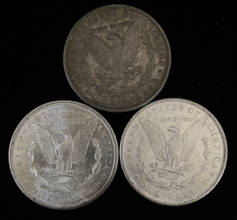 (3) Morgan Silver Dollars - 2