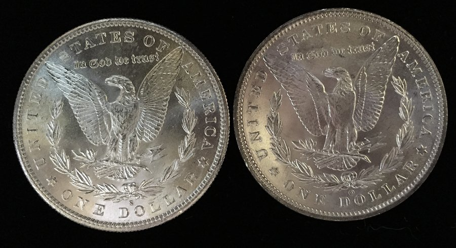 (2) Morgan Silver Dollars (BU) - 2