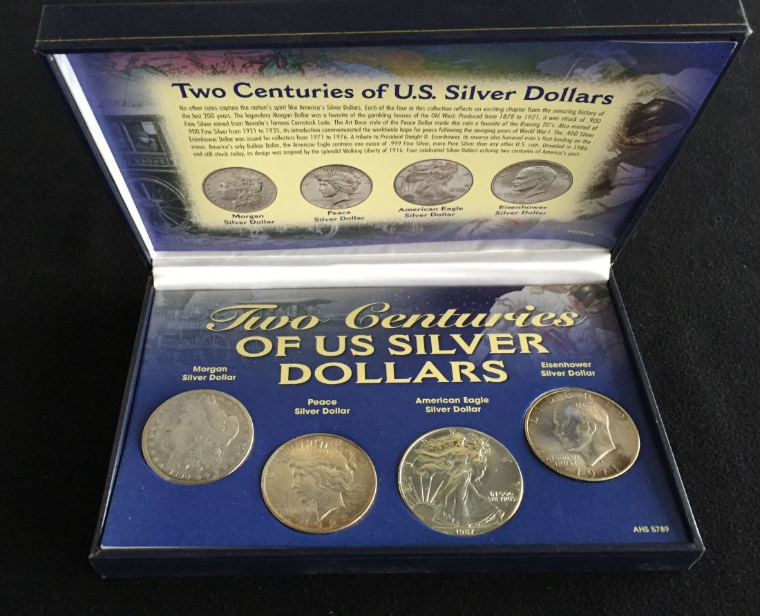 Two Centuries of US Silver Dollars Set