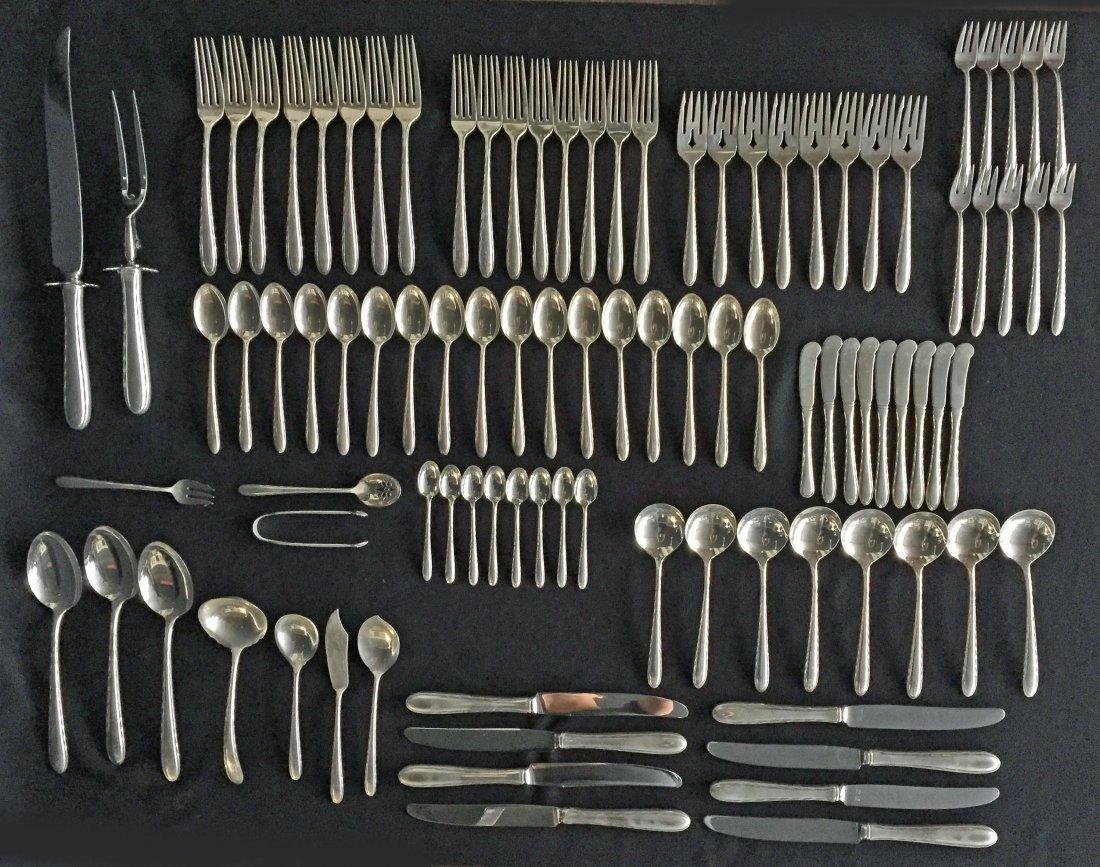 94 Pcs. Towle Silver Flutes Sterling Silver Flatware
