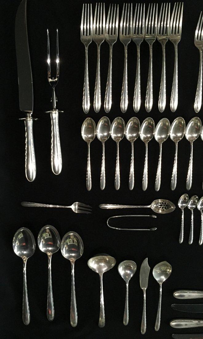94 Pcs. Towle Silver Flutes Sterling Silver Flatware - 4